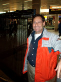 Mark collecting us at Schiphol