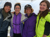 Jen, Henri, Karen and Winona ready for the race.