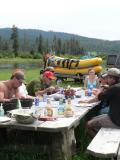 A gorgeous picnic spot after rafting
