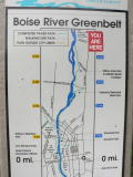 The scenic greenbelt parallels the Boise River