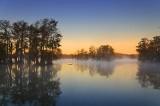 Misty Lake Martin At Sunrise 25710