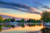 Rideau Canal At Sunset 17533