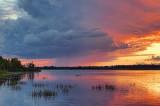 Distant Evening Storm 17989-90