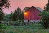 Red Barn At Dawn 19579-81