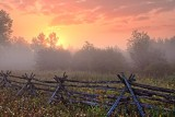 Foggy Sunrise Landscape 21200-1