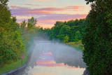 Misty Rideau Canal At Sunrise 20100827