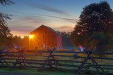 Red Barn At Sunrise 20100920