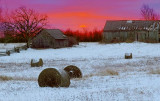 Barns In Winter Sunrise 20101210