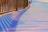 Railing Shadows On Snow 20110122