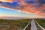 Skinners Pond Dunes At Sunset 27270