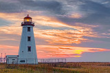 PEI North Cape Lighthouse At Sunset 26937-43