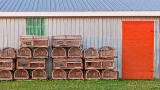 Stacked Lobster Traps 27844