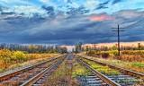 Train Tracks At Daybreak 29670