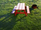 Frosty Picnic Table