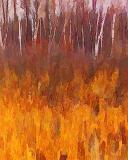 Birches & Cattails Art