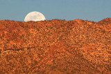Moon Peeking Over A Mountain 80555