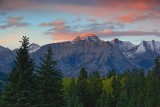 Canadian Rockies at Sunset 17106