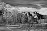 Snaring Road in Monochrome