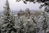 Snow Fallen on Banff Springs
