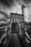Fisgard Lighthouse (BW)