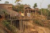 Houses in Langmeing, Lower Konyak Naga village.