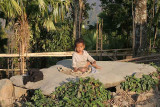 In Sheanghah Chingnyu (S/ Chingnyu) in front of the Angh´s house. The child is sitting on a special stone; see next photo.
