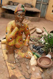 Voodoo priest doing okpele ifá oracle.