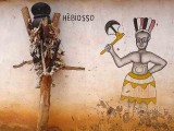 Voodoo. Hebiosso, the dangerous god of thunder, near Abomey.