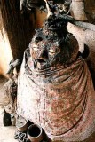 Aholu, god of the earth, in a voodoo temple in Togoville.