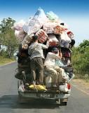 Overloaded car.