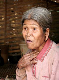 Old Kreung lady in Krase, Cambodia.
