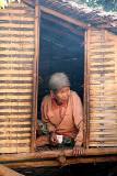 Old Kreung lady in her house in Krase, Cambodia.