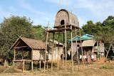 Boys` house in Nong Leg village.Cambodia.