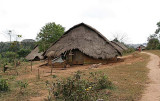 Traditional Phnong houses in Dak Dam Village, Mondulkiri, Cambodia