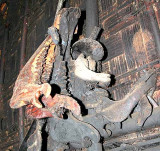 Signs of former sacrifices, jaw-bones of cows and buffaloes in a Phnong house. Pu Tang Village, Mondulkiri, Cambodia