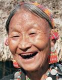 Blackened teeth a special makeup