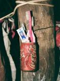 Dental hygiene in a Naga house