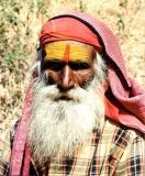 Saddhu a holy Hindu man on a pilgrimage
