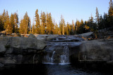 Millers Cascade at Sunset