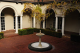 The Courtyard at the Villa Montalvo Mansion