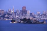 Alcatraz Island and the San Francisco Skyline at Dusk