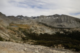 The view from Vogelsang Pass