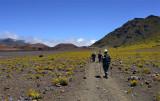 Hiking toward Kapalaoa cabin