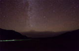 A small fuzzy - Andromeda galaxy in the center of the picture