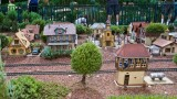 Miniature trains near German pavilion