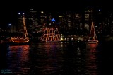 Some of the vessels in the Parade of Lights