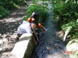 Saluran Air dari Curug Cibeureum