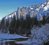 Sentinel Rock and the Merced River