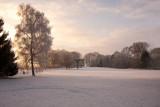 Priel sous la neige