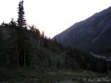Mountain scene at dusk